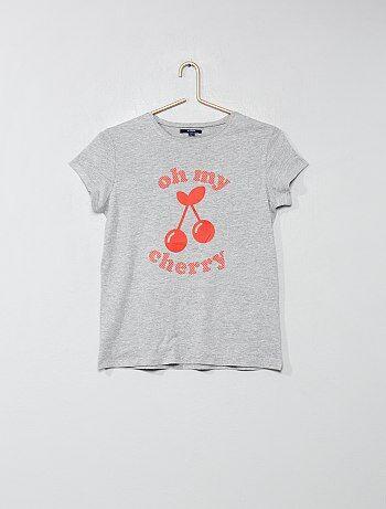 59a69e065cfff Fille 10-18 ans - T-shirt imprimé - Kiabi