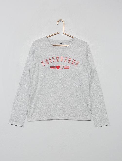 T-shirt imprimé                                                                             gris/girl