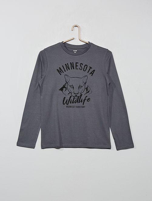 T-shirt imprimé                                                                                                                                 gris/panthere