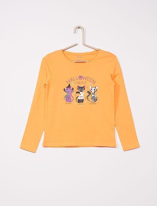 T-shirt imprimé 'Halloween'                                                                 orange