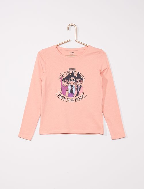 T-shirt imprimé 'Halloween'                                                                             rose
