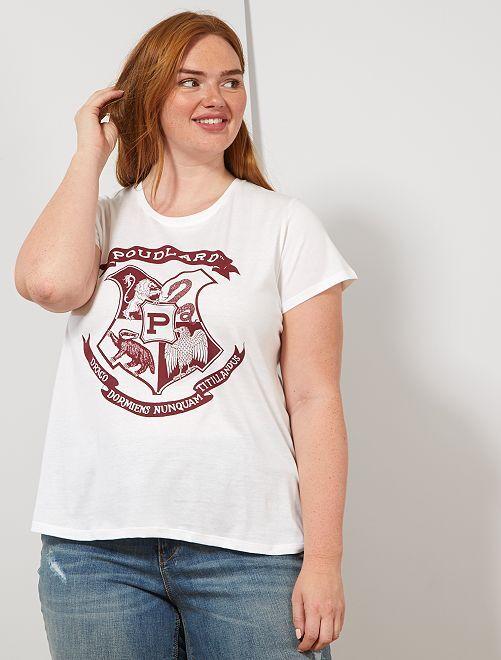 T-shirt imprimé 'Harry Potter'                             blanc