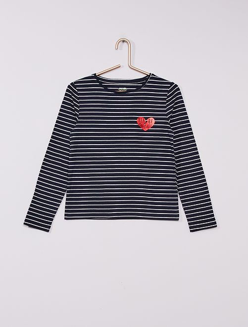 Un t-shirt imprimé 'Adorable little girl' !                                                         bleu