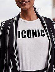 T-shirt imprimé 'Iconic'
