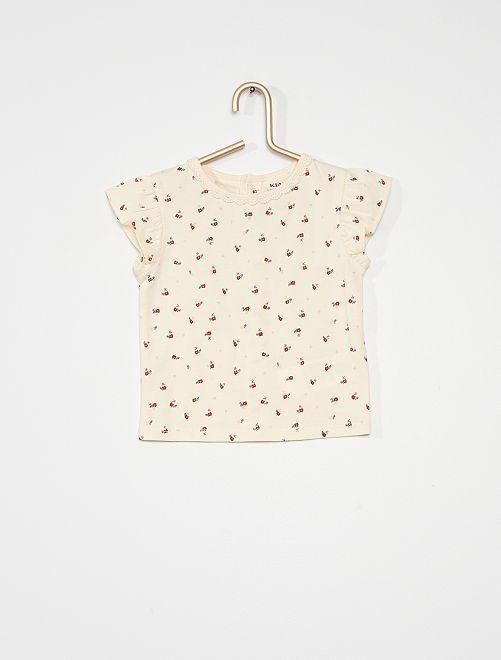 T-shirt imprimé                             imprimé fleur
