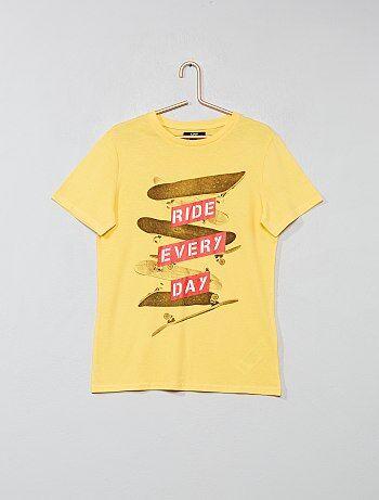 7f24b701f0cab Garçon 10-18 ans - T-shirt imprimé - Kiabi