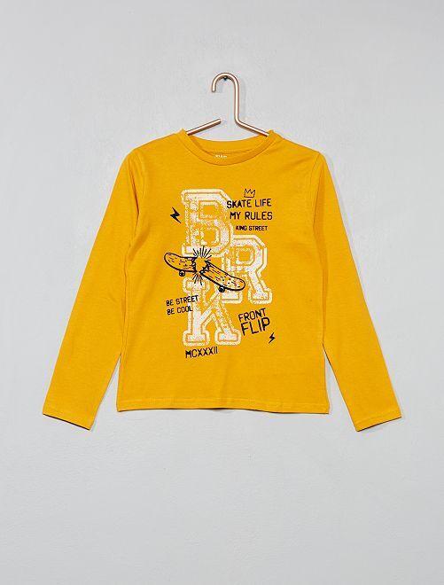 T-shirt imprimé                                                                                                                 JAUNE Garçon