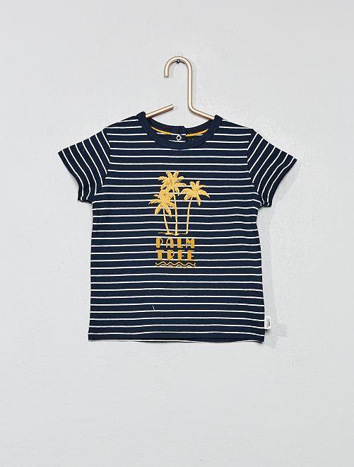 T-shirt imprimé                                                                             jaune palmier