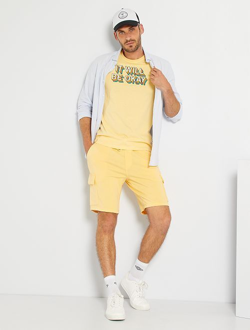 T-shirt imprimé                                                                             jaune/okay