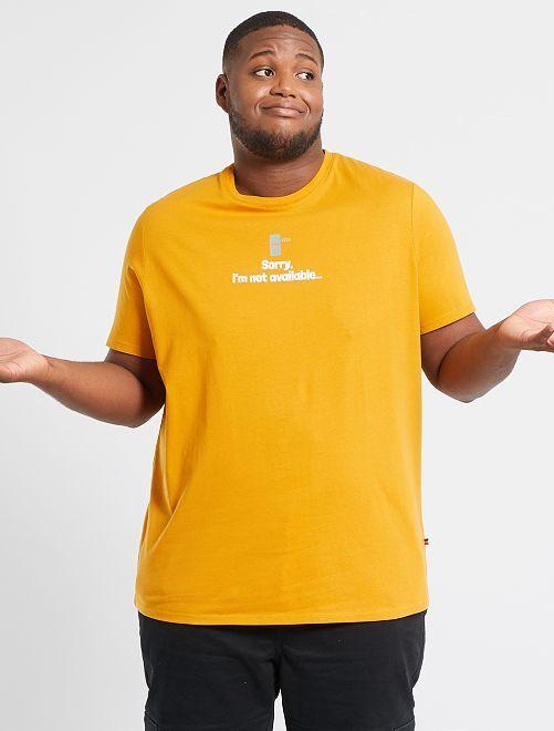 T-shirt imprimé                                                                             jaune/sorry