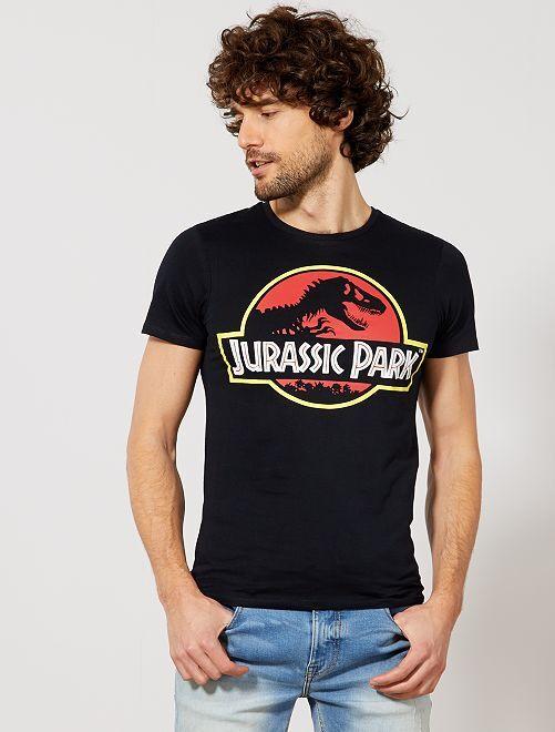 T-shirt imprimé 'Jurassic Park'                             noir