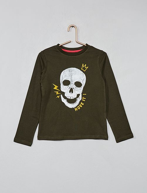 T-shirt imprimé                                                                                                                 KAKI Garçon