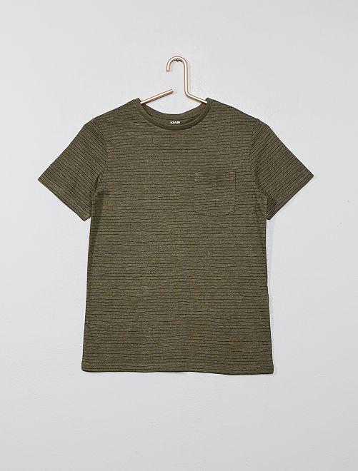 T-shirt imprimé                                                                 kaki rayé