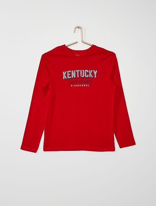T-shirt imprimé 'Kentucky'                                                                                                                                                                                                                             rouge