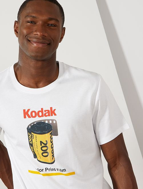 T-shirt imprimé 'Kodak'                             blanc