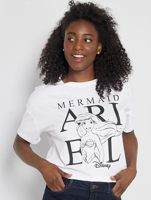 T-shirt imprimé 'La Petite Sirène'                                                                                                                                         blanc 'Ariel'