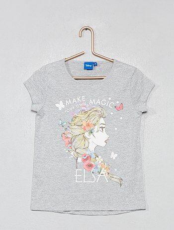 c001077c16693 T-shirt imprimé  La Reine des neiges  - Kiabi