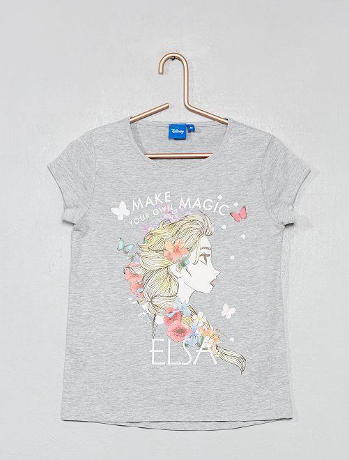 T-shirt imprimé 'La Reine des neiges'                                                                             gris