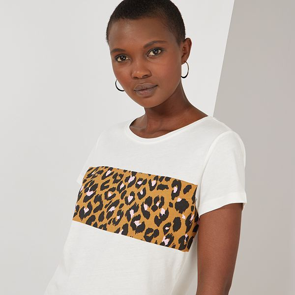 T shirt imprimé léopard 'JDY'