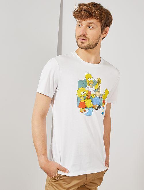 T-shirt imprimé 'Les Simpson'                             blanc