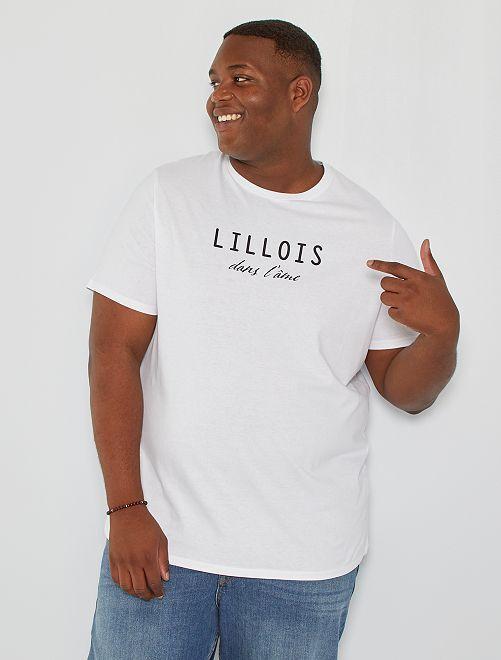 T-shirt imprimé Lille                             blanc