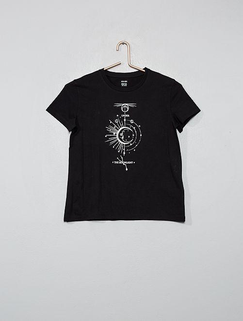 T-shirt imprimé 'lune'                                                                                                                                                                             noir
