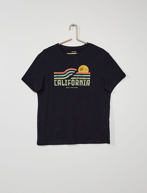 T-shirt imprimé                                                                                                                                                                                                                                                     marine
