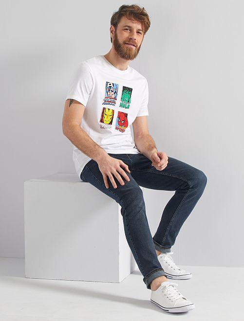 T-shirt imprimé 'Marvel'                             blanc