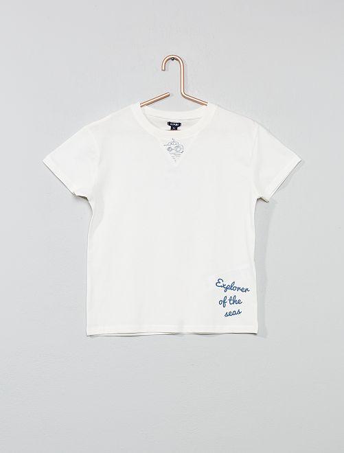 T-shirt imprimé 'mer'                                                                 blanc Garçon