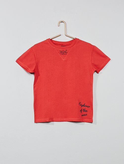 T-shirt imprimé 'mer'                                                     rouge