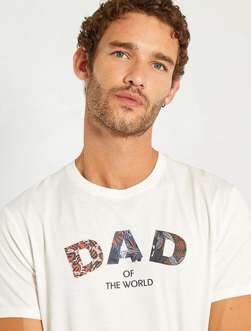 T-shirt imprimé message                                         blanc