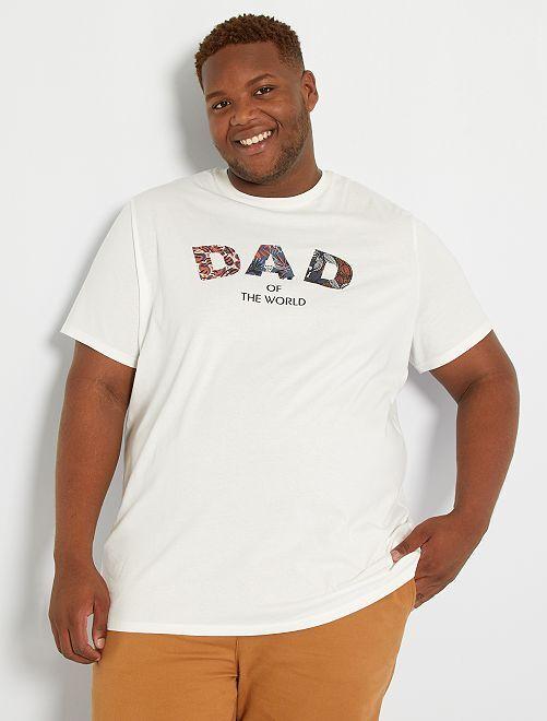 T-shirt imprimé message                                         écru