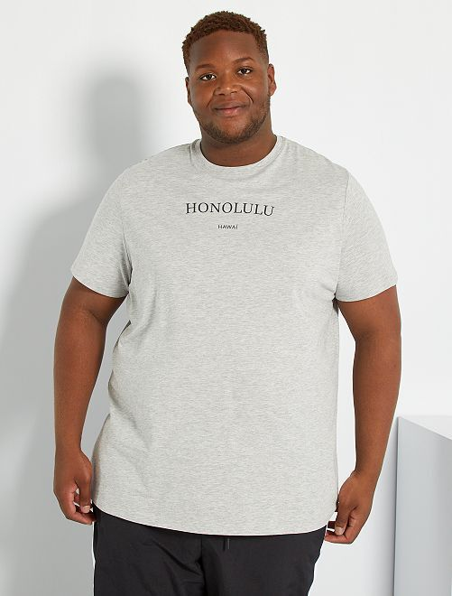 T-shirt imprimé message                                         gris clair chiné