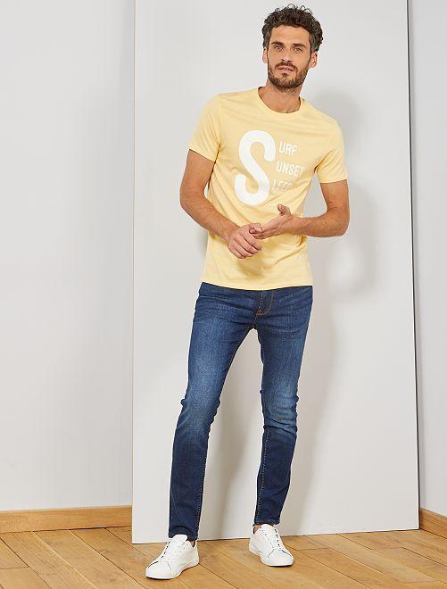 T-shirt imprimé message                                                     jaune pâle sunset