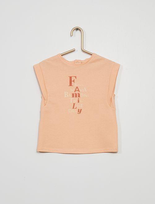 T-shirt imprimé message                             pêche