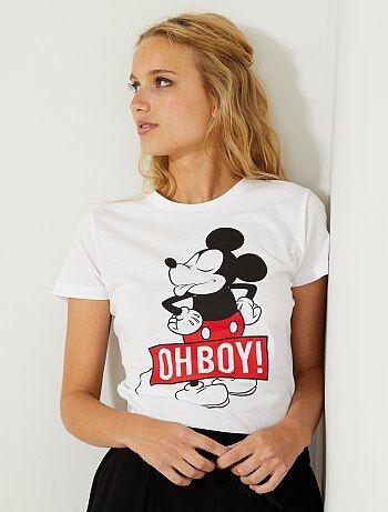 Femme du 34 au 48 - T-shirt imprimé 'Mickey' - Kiabi