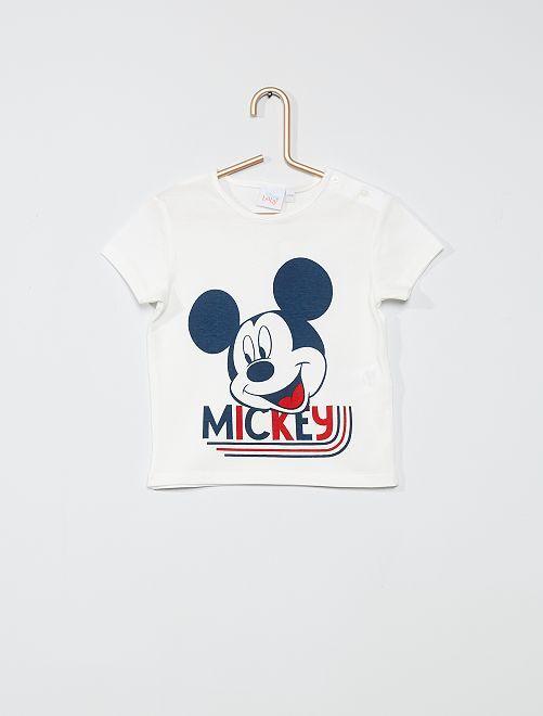 T-shirt imprimé 'Mickey'                                         blanc Mickey