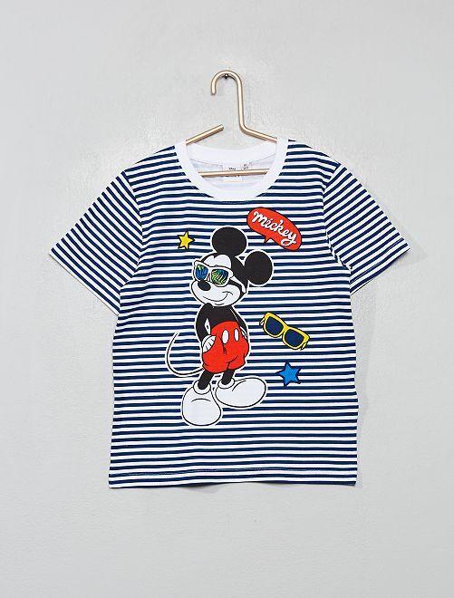 T-shirt imprimé 'Mickey'                                                     rayé