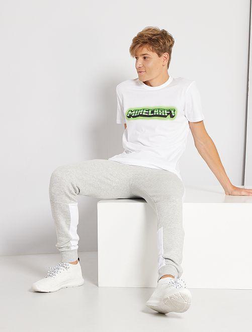 T-shirt imprimé 'Minecraft'                             blanc