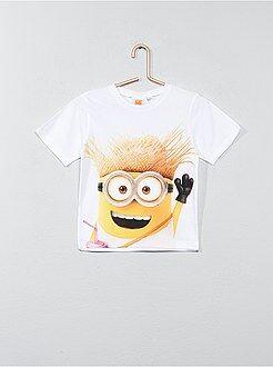 Tee shirt, polo - T-shirt imprimé 'Minions' - Kiabi