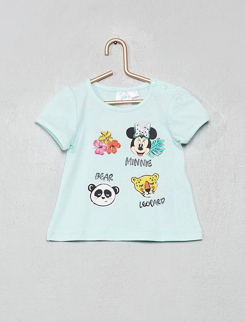 T-shirt imprimé 'Minnie'                     bleu