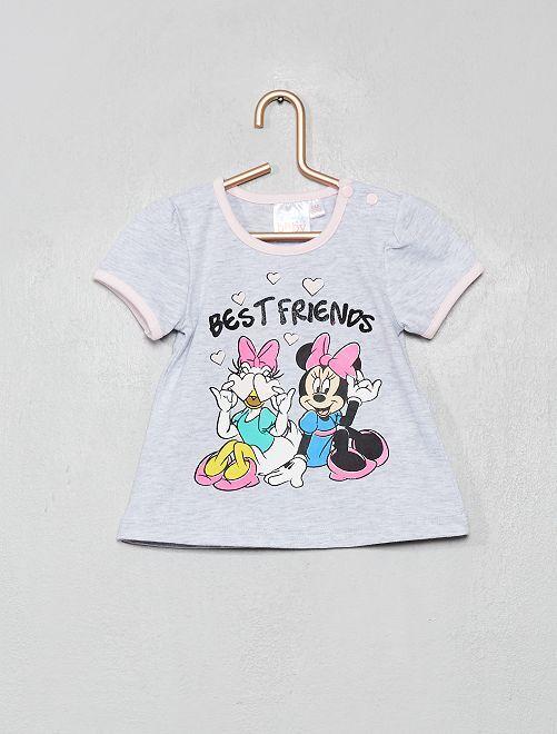 T-shirt imprimé 'Minnie' et 'Daisy'                                                     gris chiné