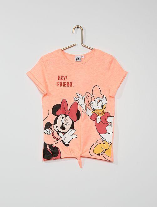 T-shirt imprimé 'Minnie' et 'Daisy'                             rose fluo