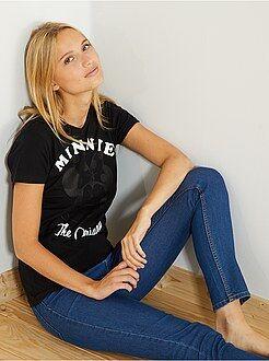 Femme du 34 au 48 - T-shirt imprimé 'Minnie' - Kiabi