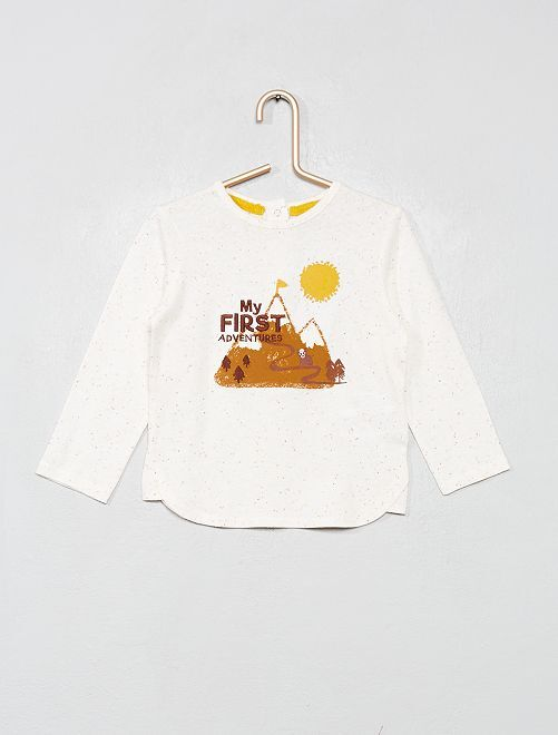 T-shirt imprimé 'Montagne'                             blanc cassé