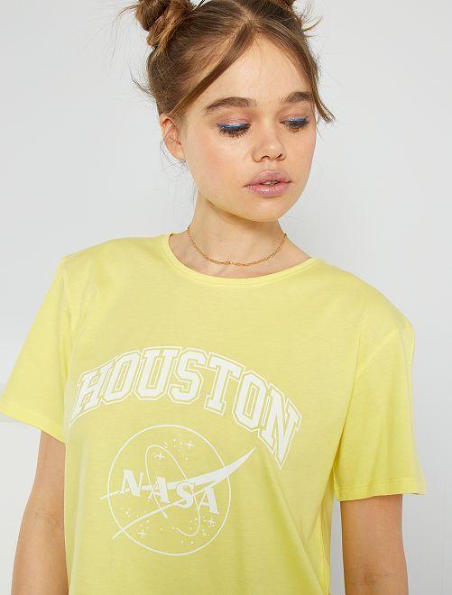 T-shirt imprimé 'Nasa' éco-conçu                             jaune