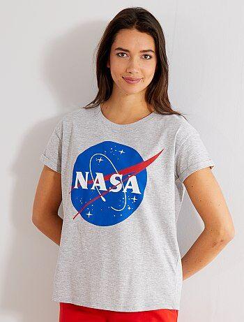 Femme du 34 au 48 - T-shirt imprimé 'Nasa' - Kiabi
