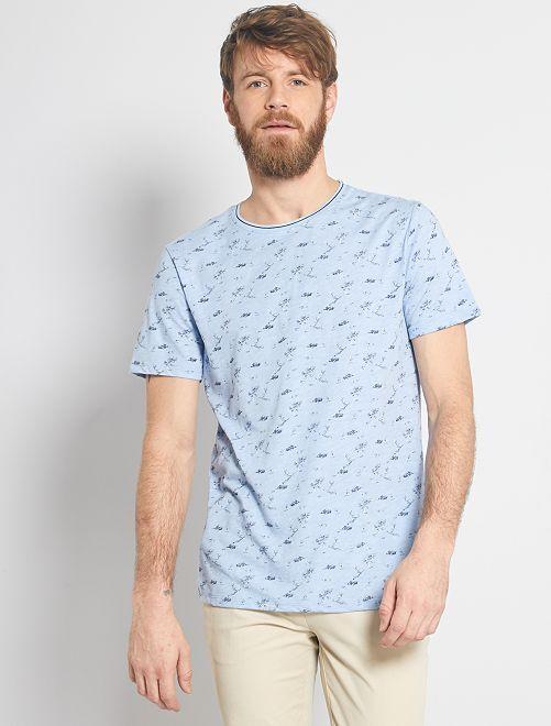 T-shirt imprimé nature                                                                 bleu gris