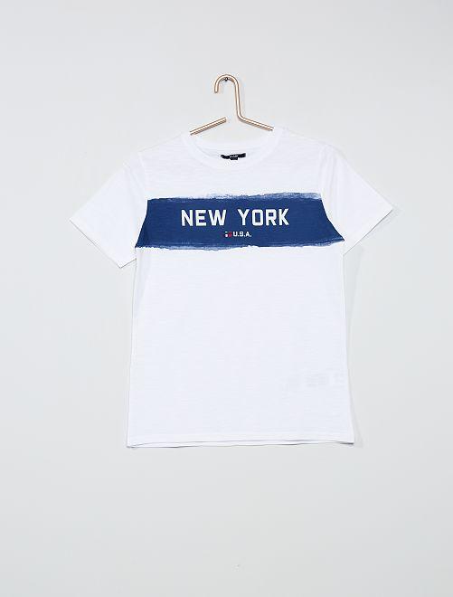 T-shirt imprimé 'New-York'                                                     blanc