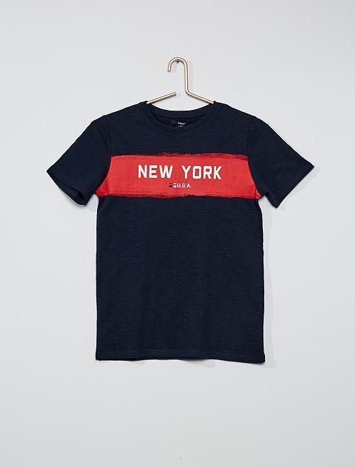 T-shirt imprimé 'New-York'                                                     bleu marine